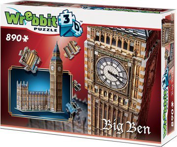 3D Jigsaw Puzzle - Big Ben and Parliament - Wrebbit