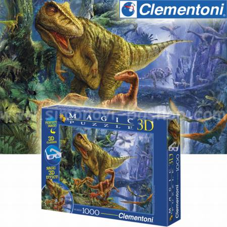 Jigsaw Puzzle - Dinosaur Valley (#39261) - 1000 Pieces 3-D Clementoni