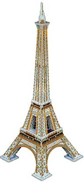 3D Jigsaw Puzzle - Eiffel Tower - Wrebbit