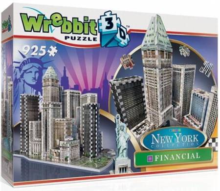 3D Jigsaw Puzzle - Financial (New York Collection) - Wrebbit