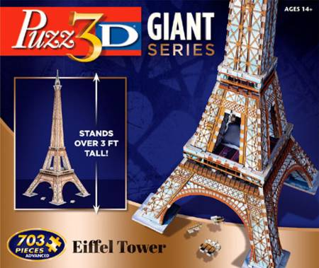 3D Jigsaw Puzzle - Giant Eiffel Tower