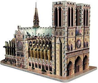 3D Jigsaw Puzzle - Notre Dame Cathedral - Wrebbit