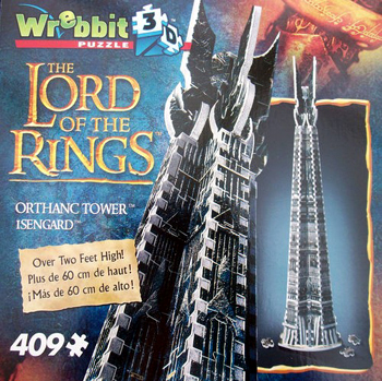 3D Jigsaw Puzzle - Orthanc Tower - Isengard - Wrebbit