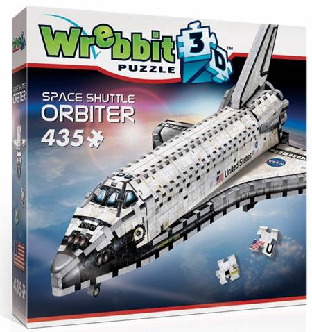 3D Jigsaw Puzzle - Space Shuttle (#W3D-1008) - Wrebbit