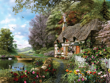 Jigsaw Puzzle - Country Cottage - 1500 Pieces Ravensburger