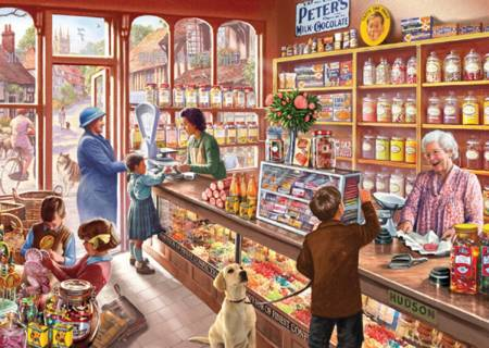 Wooden Jigsaw Puzzle - Sweetshop (#661308) - 1000 Pieces