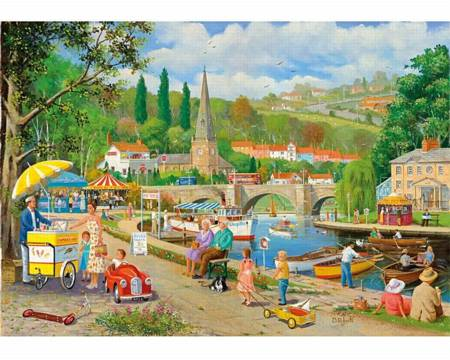 Wooden Jigsaw Puzzle - A Day by the River (871905) - 250 Pieces Wentworth