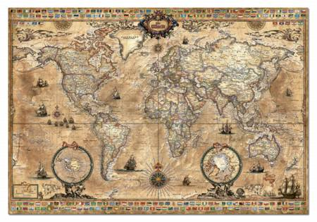 Jigsaw puzzle antique world map 15159 1000 pieces educa gumiabroncs Image collections