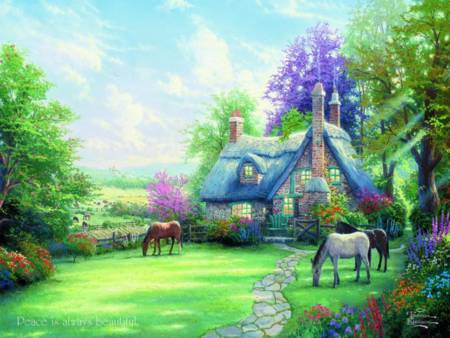 Thomas Kinkade Jigsaw Puzzle - A Perfect Summer Day (#2202-26) - 300 Pieces Ceaco
