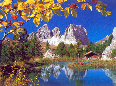 Jigsaw Puzzle - Autumn in the Dolomites (#32077) - 2000 Pieces Clementoni