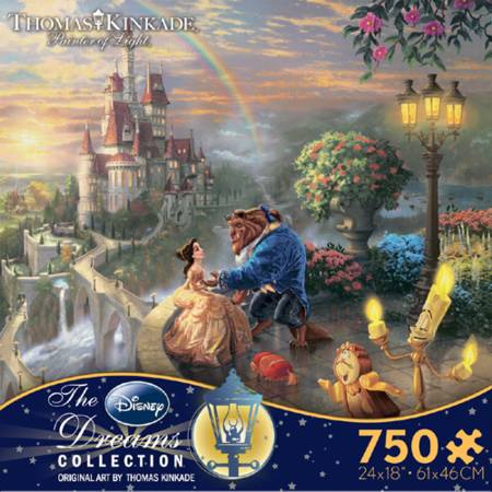 Thomas Kinkade Jigsaw Puzzle - Beauty and the Beast Falling in Love (2903-3) - 750 Ceaco
