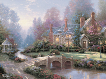 Thomas Kinkade Jigsaw Puzzle - Beyond Spring Gate - 1000 Pieces Ceaco