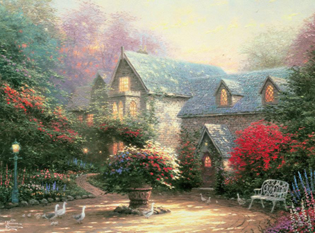 Thomas Kinkade Jigsaw Puzzle - Blessings of Spring - 1000 Pieces Ceaco