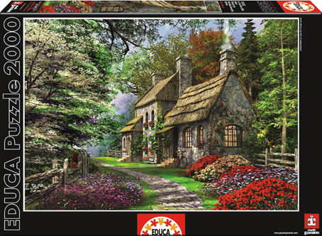Jigsaw Puzzle - Carnation Cottage (#15536) - 2000 Pieces Educa