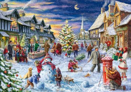 Wooden Jigsaw Puzzle - Christmas Village (#770601) - 250 Pieces
