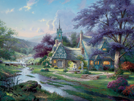 Thomas Kinkade Jigsaw Puzzle - Clocktower Cottage - 750 Ceaco (Special  Edition
