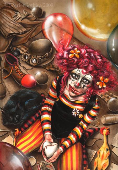Jigsaw Puzzle - Clown Girl - 500 Pieces Ricordi