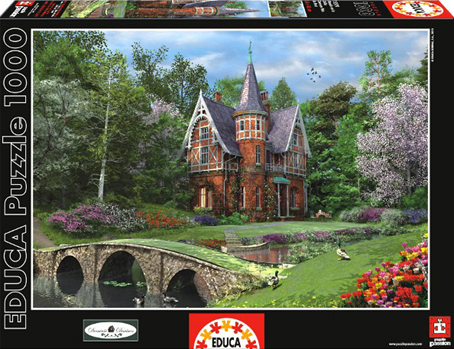 Jigsaw Puzzle - Cobbled Bridge Cottage (#15519) - 1000 Pieces Educa