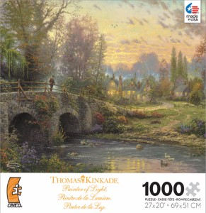 Thomas Kinkade Jigsaw Puzzle - Cobblestone Evening - 1000 Pieces Ceaco