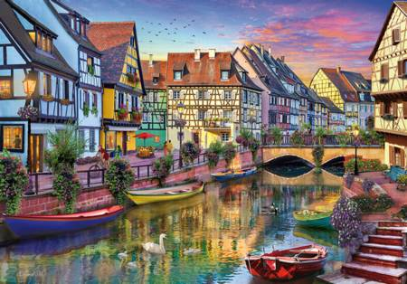 Jigsaw Puzzle - Colmar Canal (#17134) - 4000 Pieces Educa