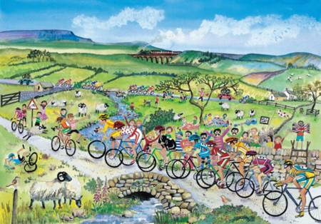 Wooden Jigsaw Puzzle - Cycle Race (#671103) - 250 Pieces Wentworth