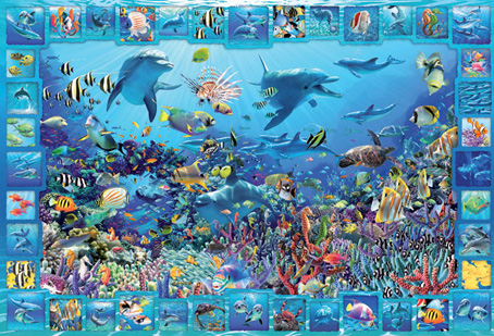 Jigsaw Puzzle - Dolphin Kingdom - 5000 Pieces Educa
