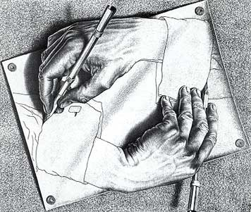 Jigsaw Puzzle - Drawing Hands - 1000 Pieces Escher