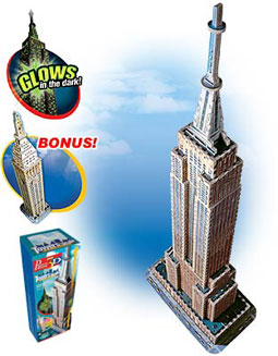 3D Jigsaw Puzzle - Empire State Building (#569) - Wrebbit