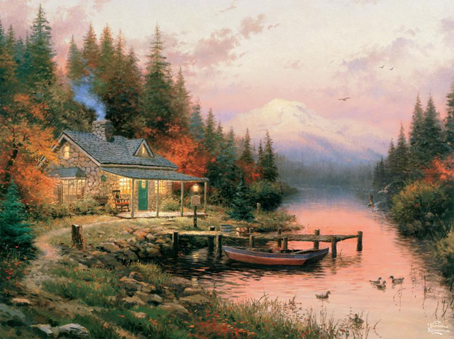 Thomas Kinkade Jigsaw Puzzle - End of Perfect Day - 1000 Pieces Ceaco