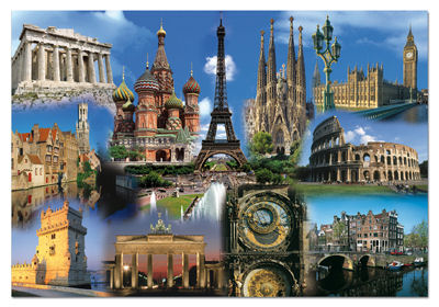 Jigsaw Puzzle - Europe Collage - 2000 Pieces Educa