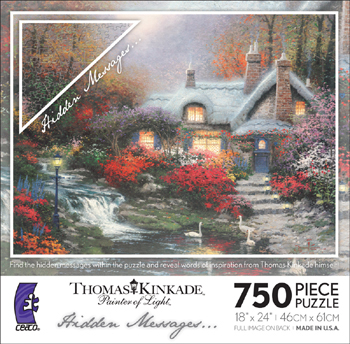 Thomas Kinkade Jigsaw Puzzle - Evening at Swanbrooke - 750 Ceaco (Hidden  Messages)