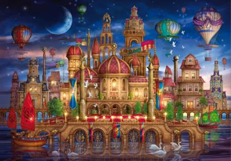 Wooden Jigsaw Puzzle - Fantasy Place (#710513) - 250 Pieces