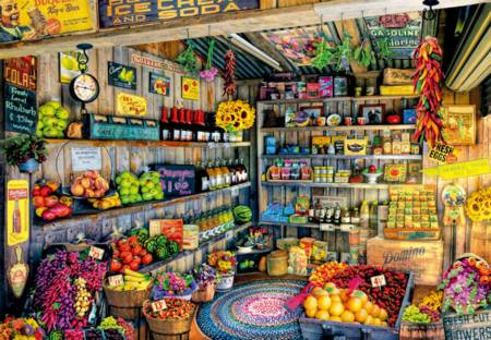 Jigsaw Puzzle - Farmers Market (#17128) - 2000 Pieces Educa