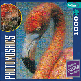 Jigsaw Puzzle - Flamingoes - 1000 Pieces Photomosaic