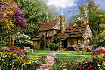 Jigsaw Puzzle - Flint Cottage - 3000 Pieces Educa
