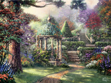 Thomas Kinkade Jigsaw Puzzle - Gazebo of Prayer - 1000 Pieces Ceaco