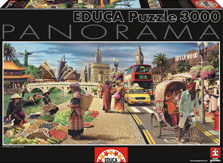Jigsaw Puzzle - Global World (#15545) - 3000 Pieces Educa