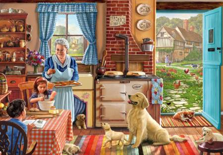 Wooden Jigsaw Puzzle - Grandmas Kitchen (#702102) - 500 Pieces Wentworth