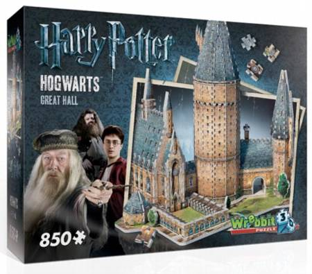 3D Jigsaw Puzzle - Harry Potter Hogwarts Great Hall - Wrebbit