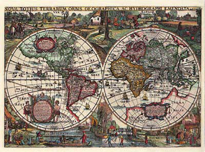 Jigsaw puzzle historical world map 1636 1500 pieces ravensburger gumiabroncs Choice Image