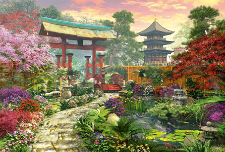 Jigsaw Puzzle - Japan Garden (#16019) - 3000 Pieces Educa