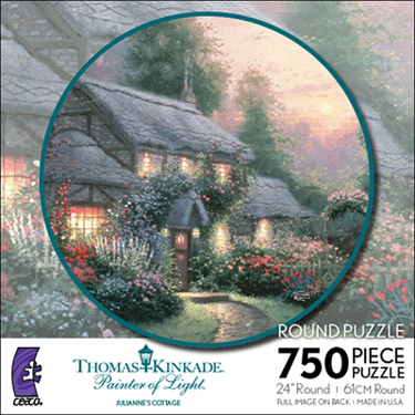 Thomas Kinkade Jigsaw Puzzle - Julianne`s Cottage - 750 Pieces Ceaco
