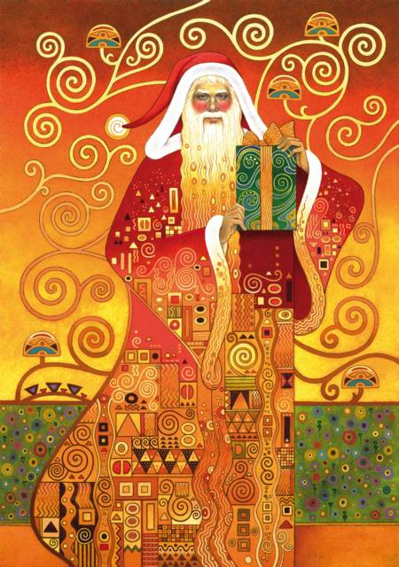 Wooden Jigsaw Puzzle - Klimt Santa (#691203) - 250 Pieces Wentworth