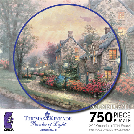 Thomas Kinkade Jigsaw Puzzle - Lamplight Lane - 750 Pieces Ceaco