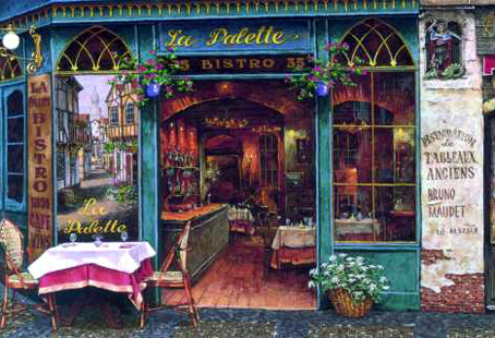 Jigsaw Puzzle - La Palette Restaurant - 1000 Pieces Educa