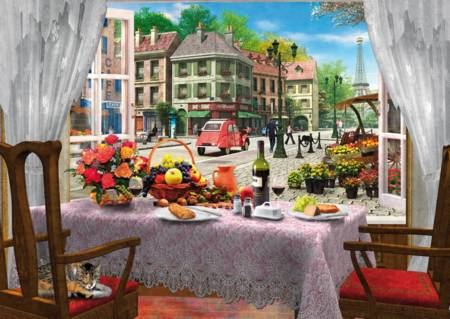 Wooden Jigsaw Puzzle - Le Cafe Paris (#661408) - 250 Pieces