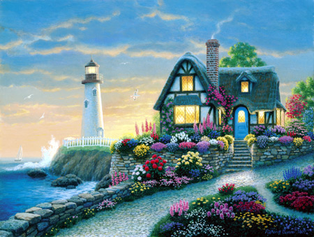 Jigsaw Puzzle - Lighthouse Overlook - 1000 Pieces Clementoni