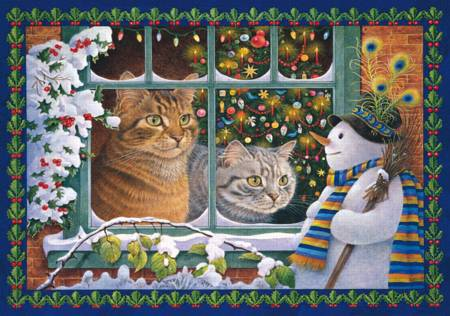 Wooden Jigsaw Puzzle - Megatab, Mintaka and the Snowman (#731406) - 250 Pieces