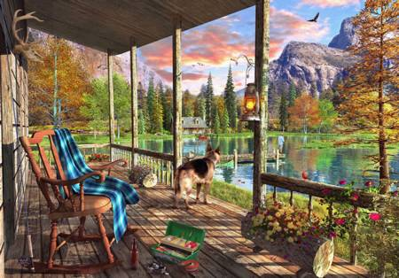 Wooden Jigsaw Puzzle - Mountain Cabin (#802008) - 500 Pieces