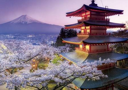 Jigsaw Puzzle - Mount Fuji (#16775) - 2000 Pieces Educa